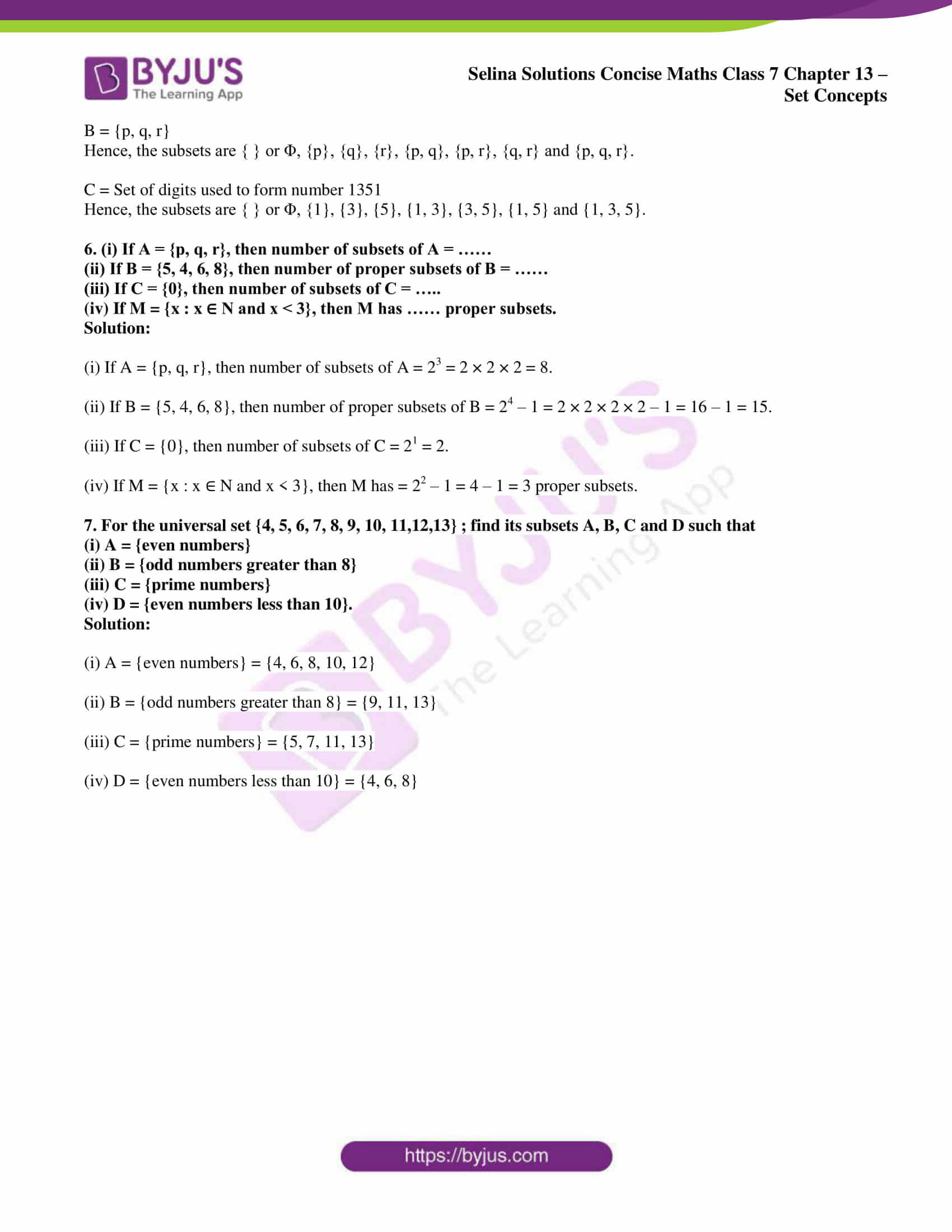 selina solution concise maths class 7 ch 13c 3