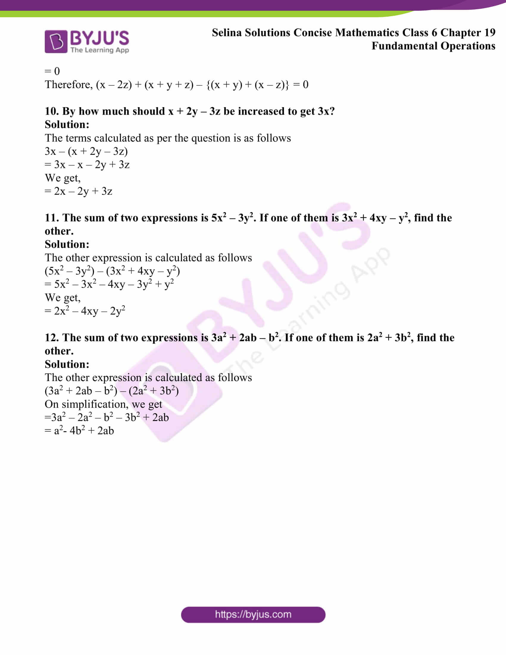 selina solutions concise math class 6 chapter 19 ex b 7