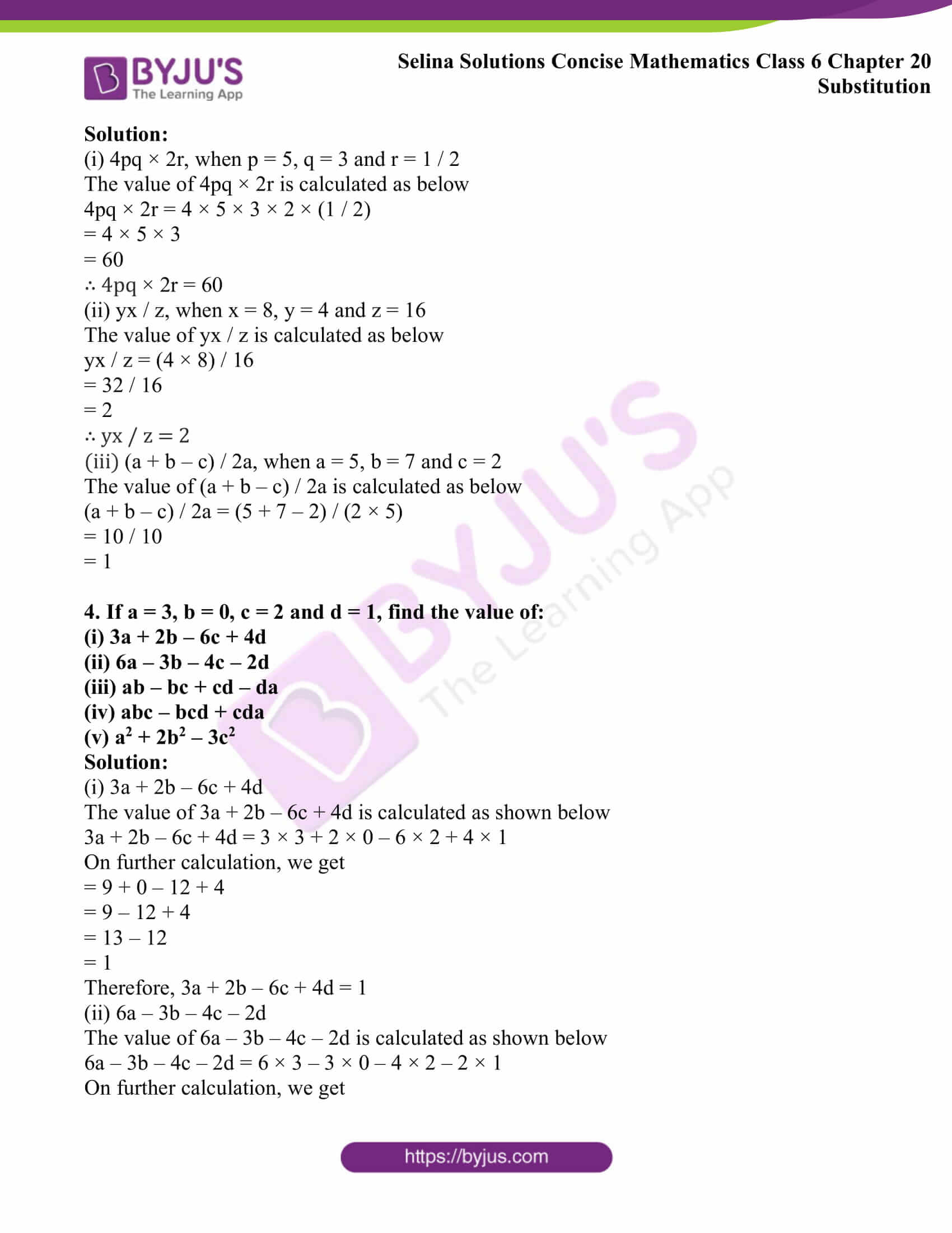 selina solutions concise math class 6 chapter 20 ex a 3