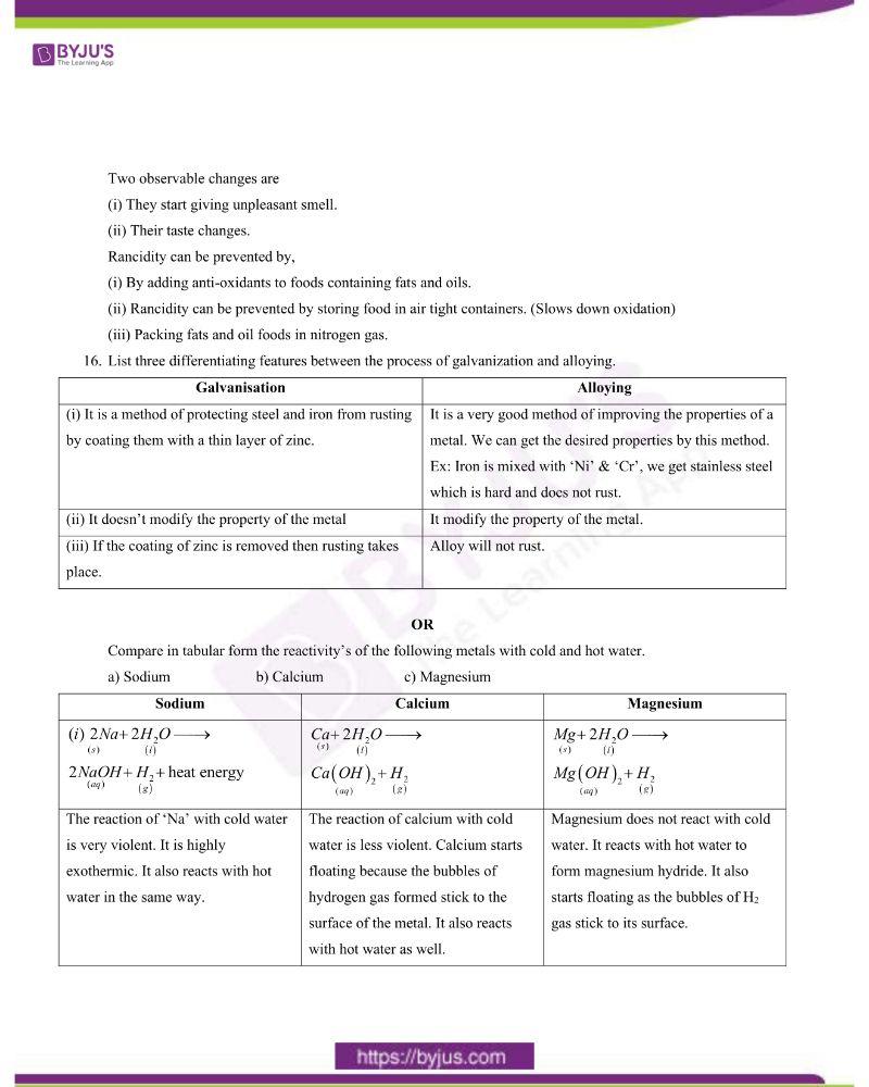 CBSE Class 10 Science Question Paper Set 1 Solution 2020 3
