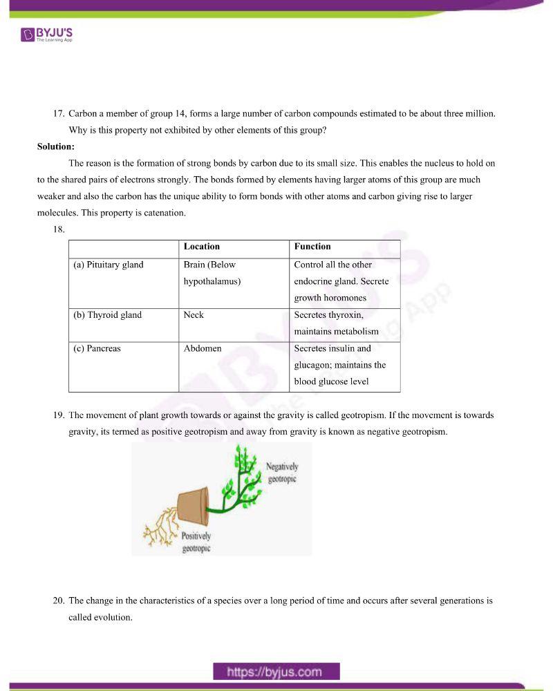 CBSE Class 10 Science Question Paper Set 1 Solution 2020 4