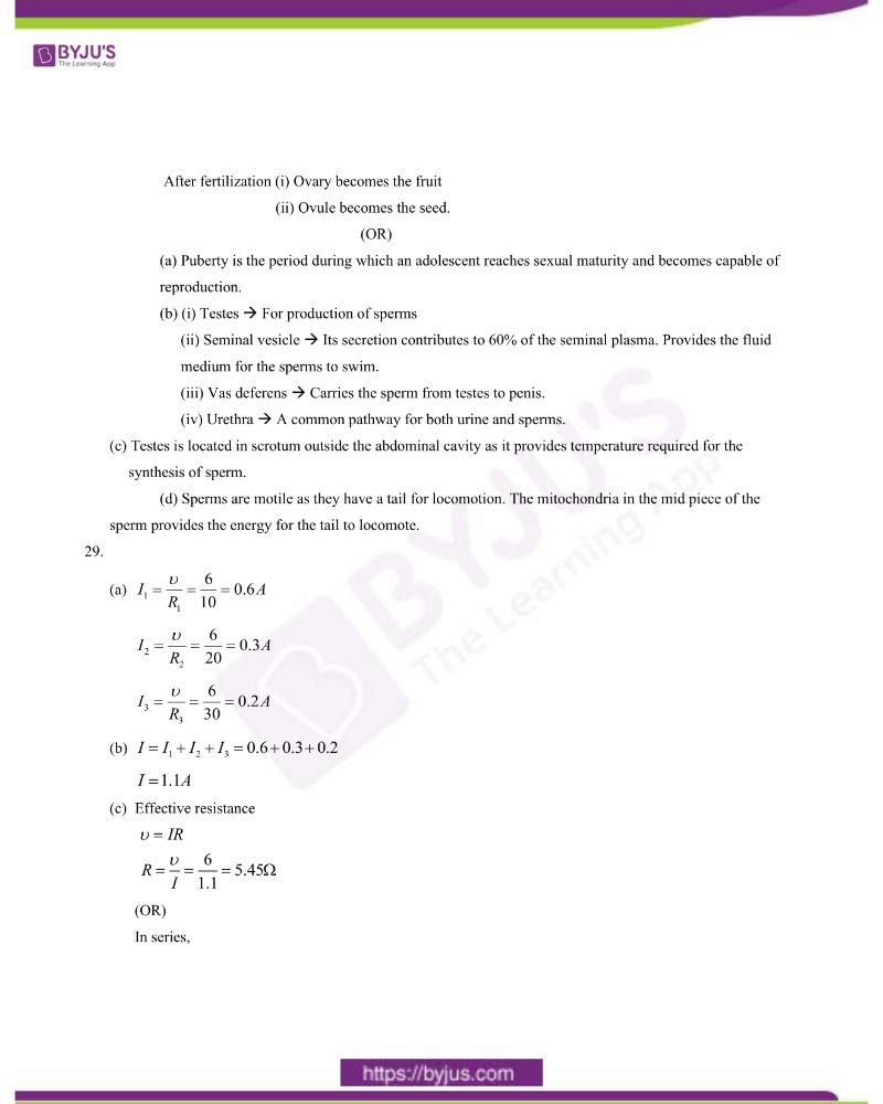 CBSE Class 10 Science Question Paper Set 1 Solution 2020 9