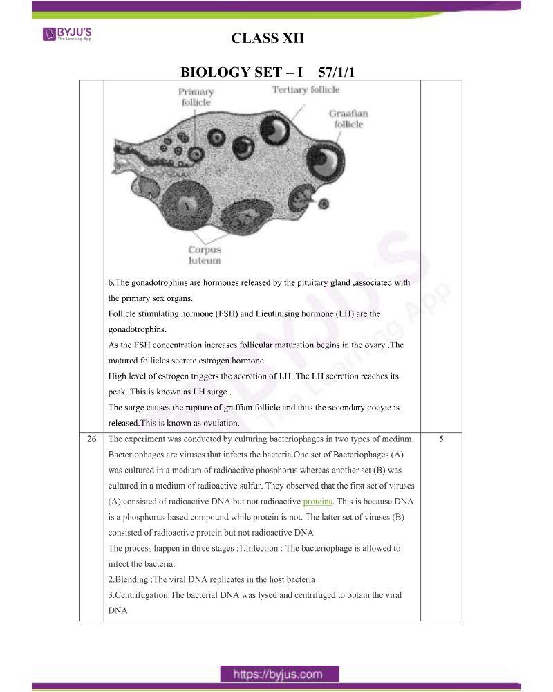 CBSE Class 12 Biology Question Paper Set 1 Solution 2020 6