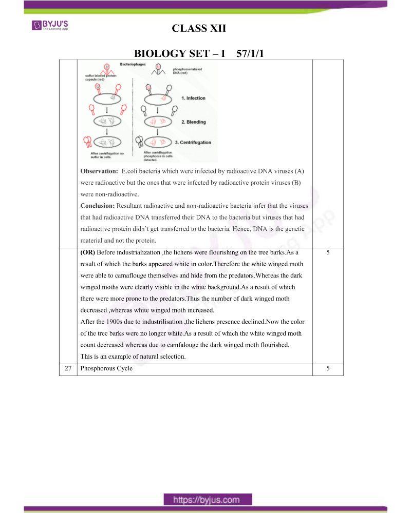 CBSE Class 12 Biology Question Paper Set 1 Solution 2020 7