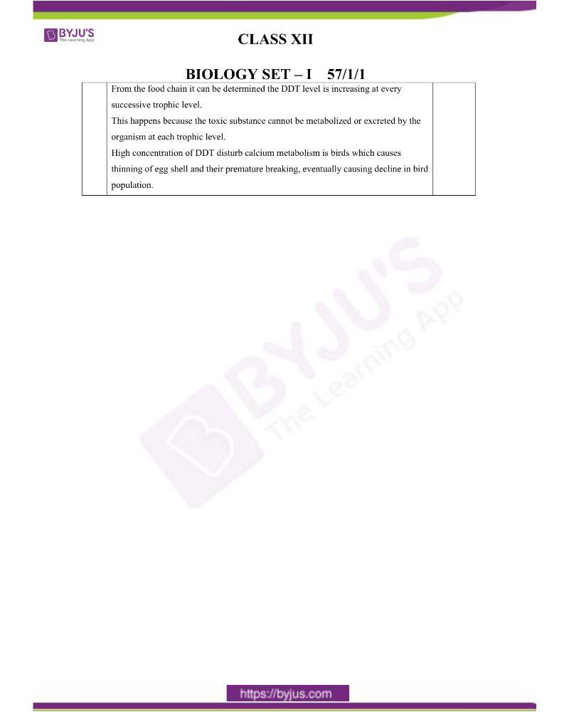 CBSE Class 12 Biology Question Paper Set 1 Solution 2020 9