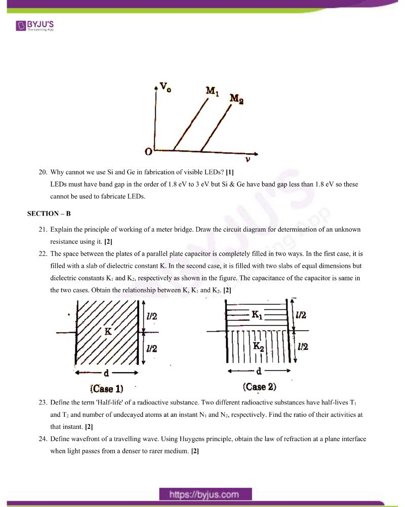 CBSE Class 12 Physics Question Paper 2020 Set 1 3