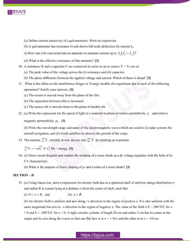 CBSE Class 12 Physics Question Paper 2020 Set 1 5