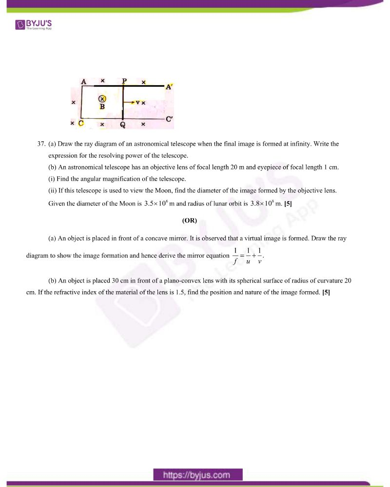 CBSE Class 12 Physics Question Paper 2020 Set 1 7