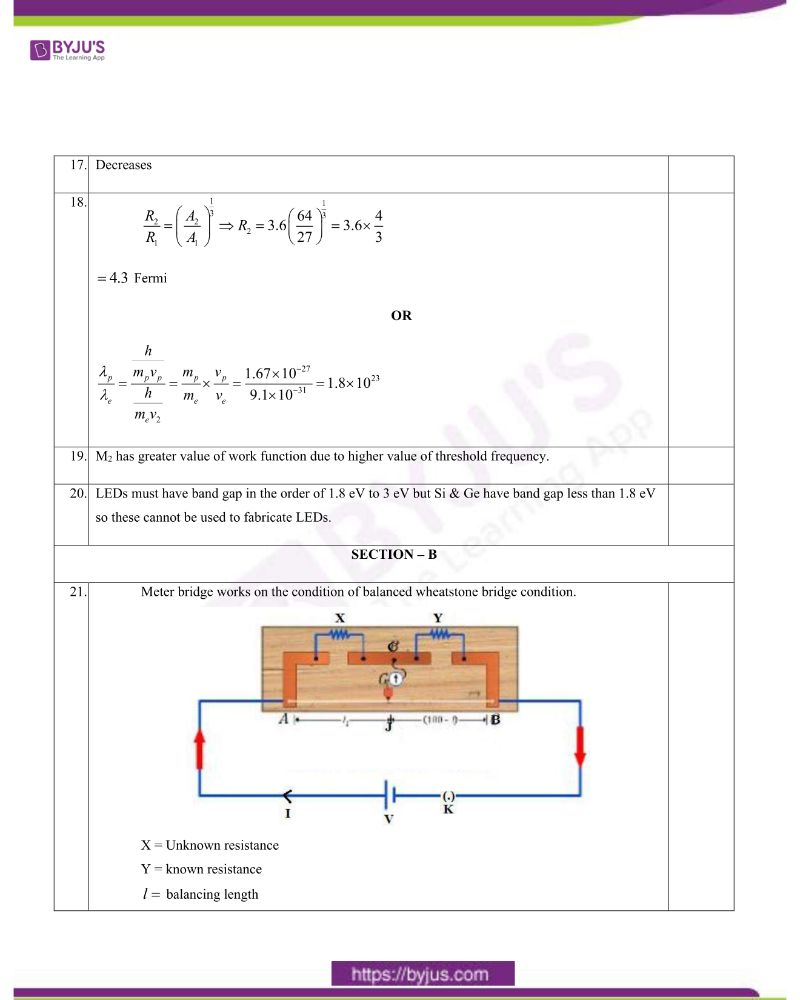 CBSE Class 12 Physics Question Paper Set 1 Solution 2020 1