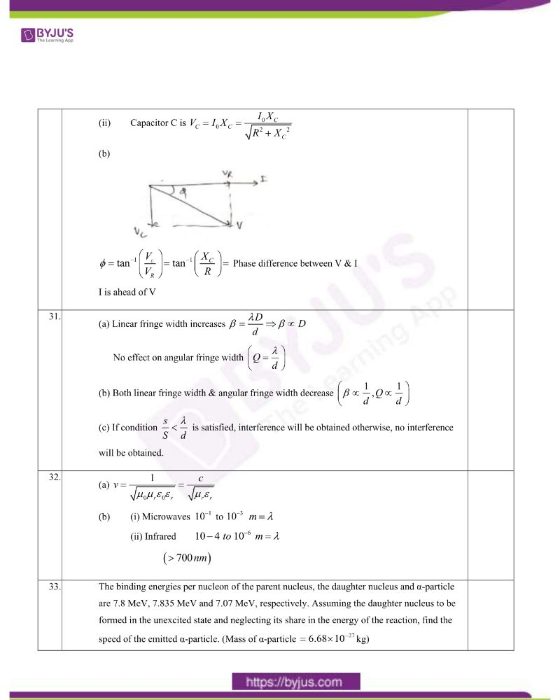CBSE Class 12 Physics Question Paper Set 1 Solution 2020 10