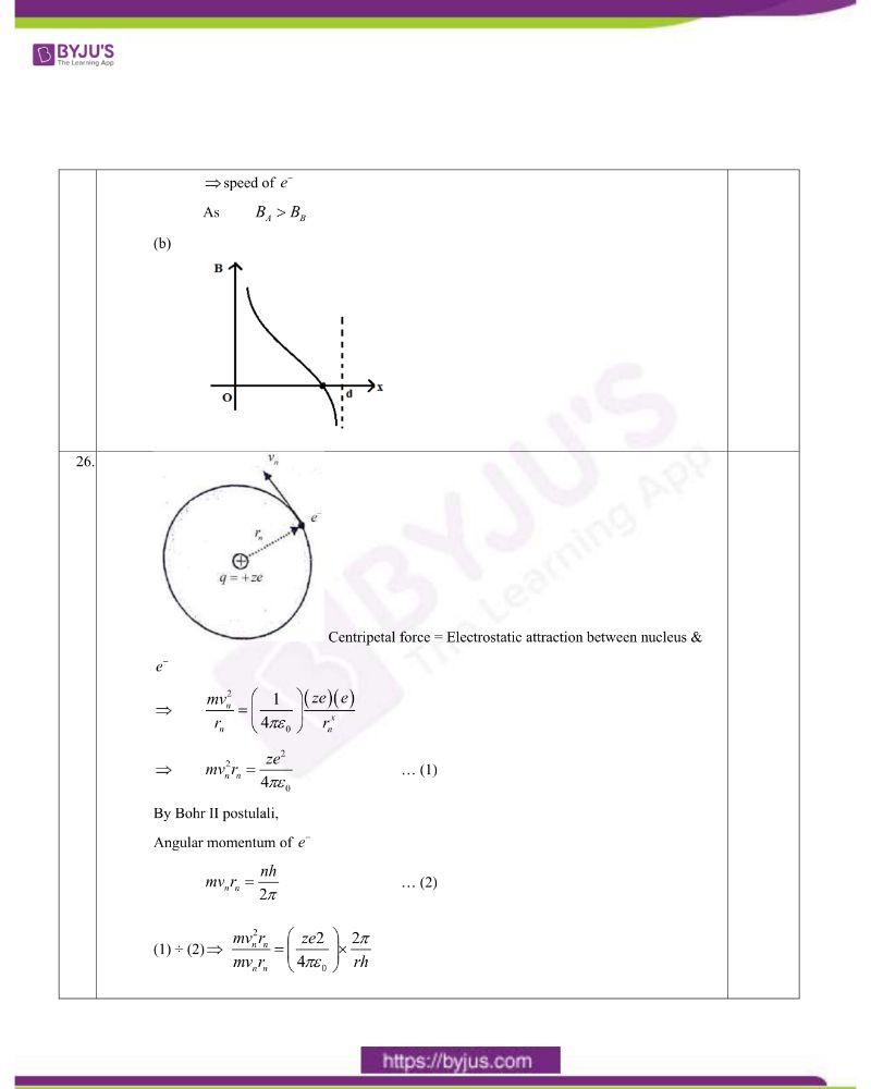 CBSE Class 12 Physics Question Paper Set 1 Solution 2020 5
