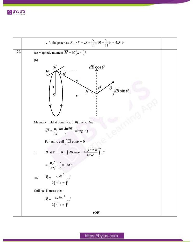 CBSE Class 12 Physics Question Paper Set 1 Solution 2020 8