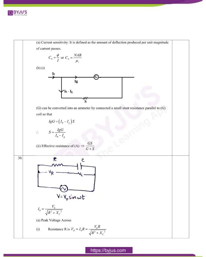 CBSE Class 12 Physics Question Paper Set 1 Solution 2020 9