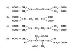 The correct structure of ethylenediaminetetraacetic acid (EDTA) is: