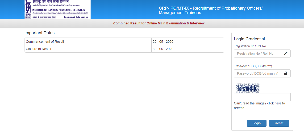 IBPS PO Final Result 2019-20 Released
