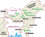 NE India Map