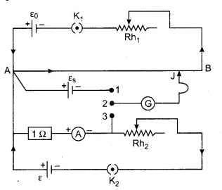 Circuit diagram to determine low resistance