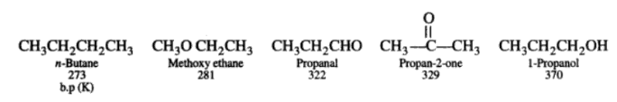 General Properties of Aldehydes - Boiling Point