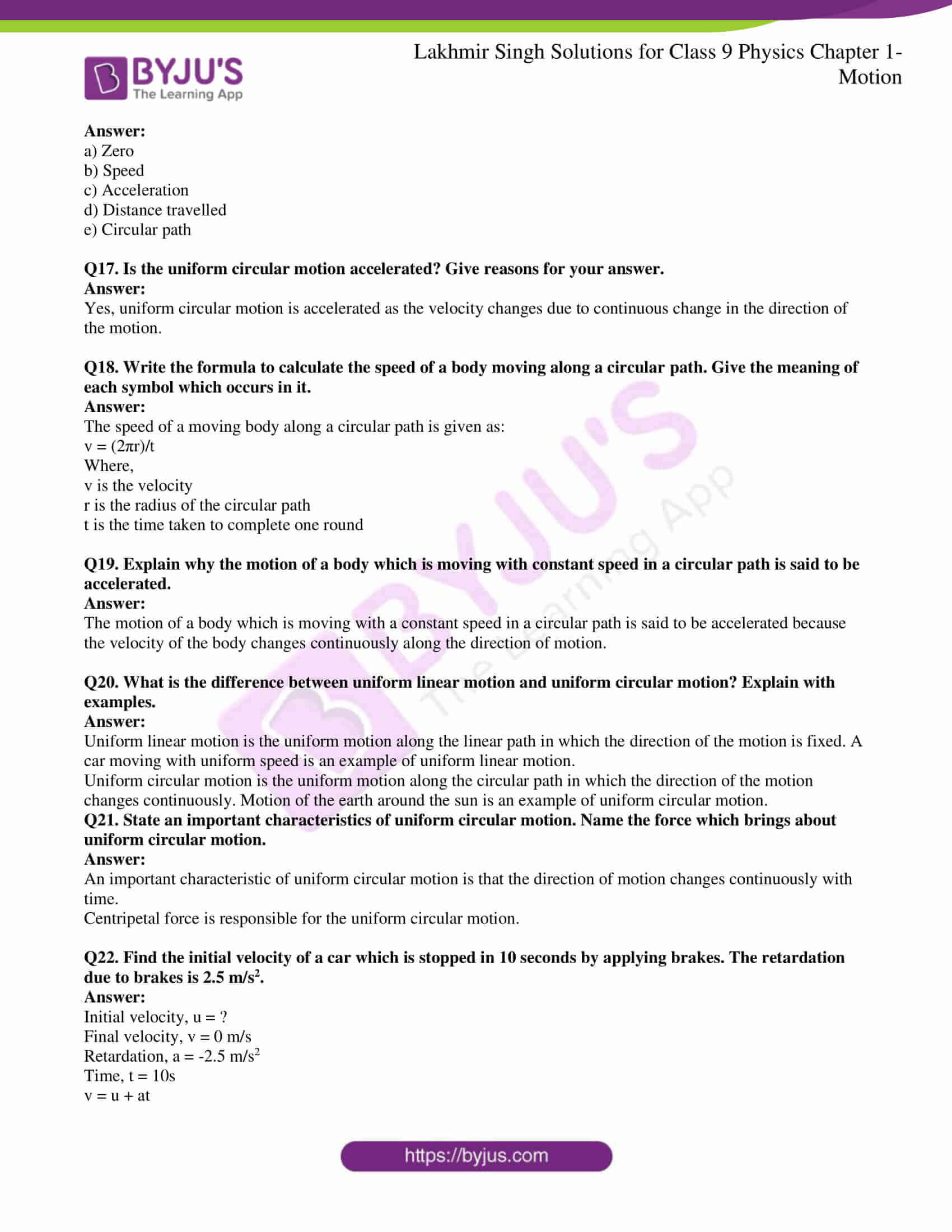 lakhmir singh solutions class 9 physics chapter 1 16