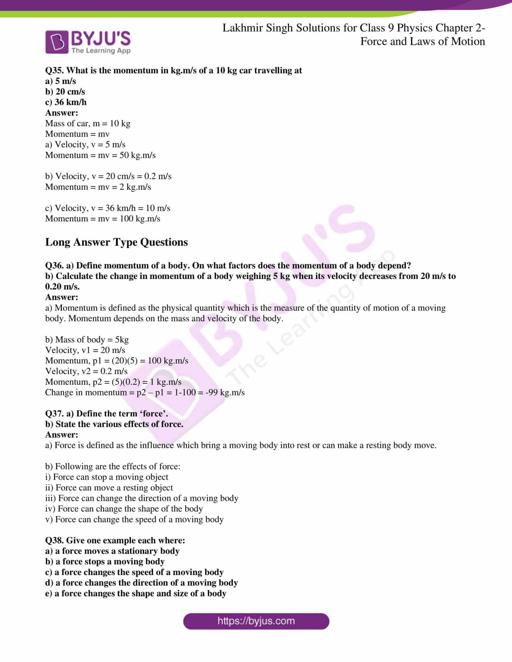 lakhmir singh solutions class 9 physics chapter 2 05