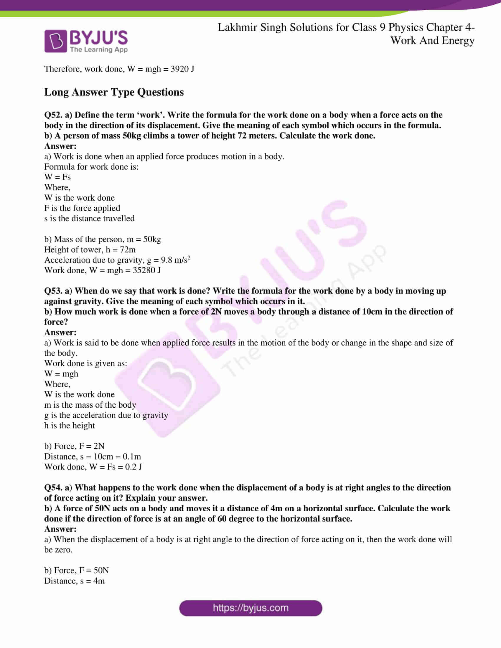 lakhmir singh solutions class 9 physics chapter 4 10