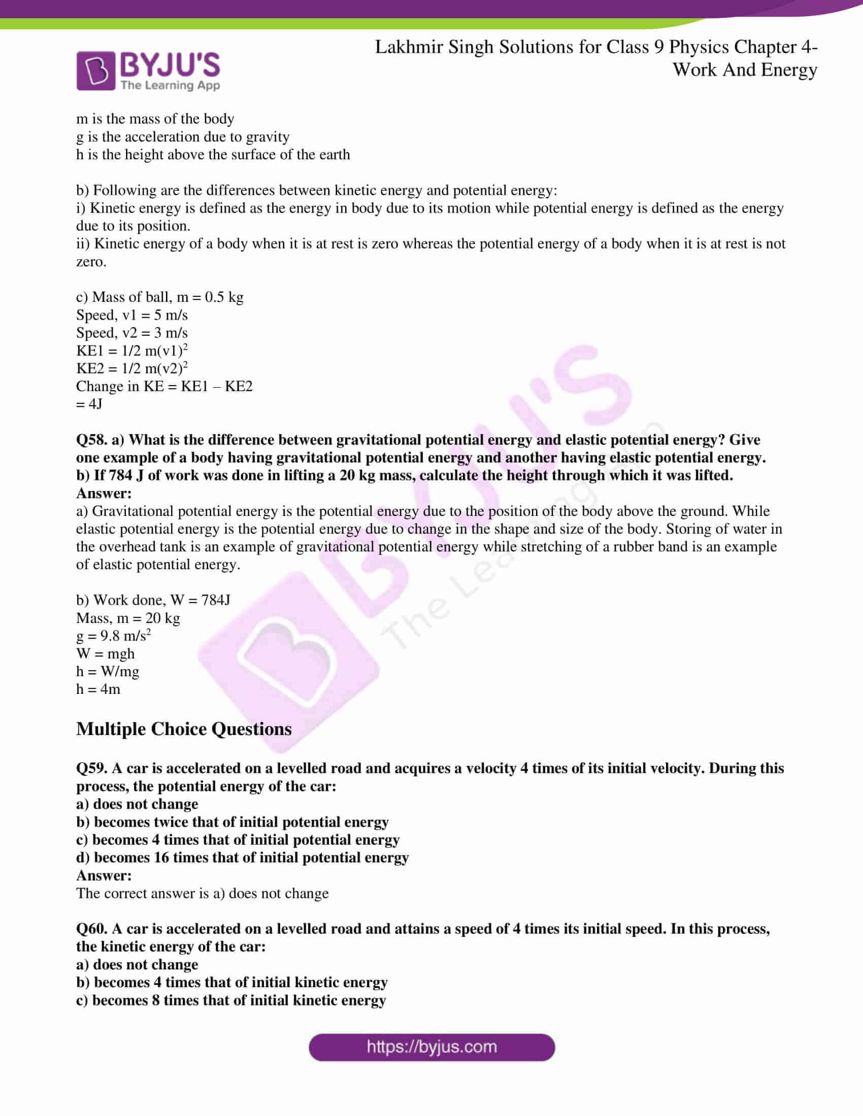 lakhmir singh solutions class 9 physics chapter 4 12