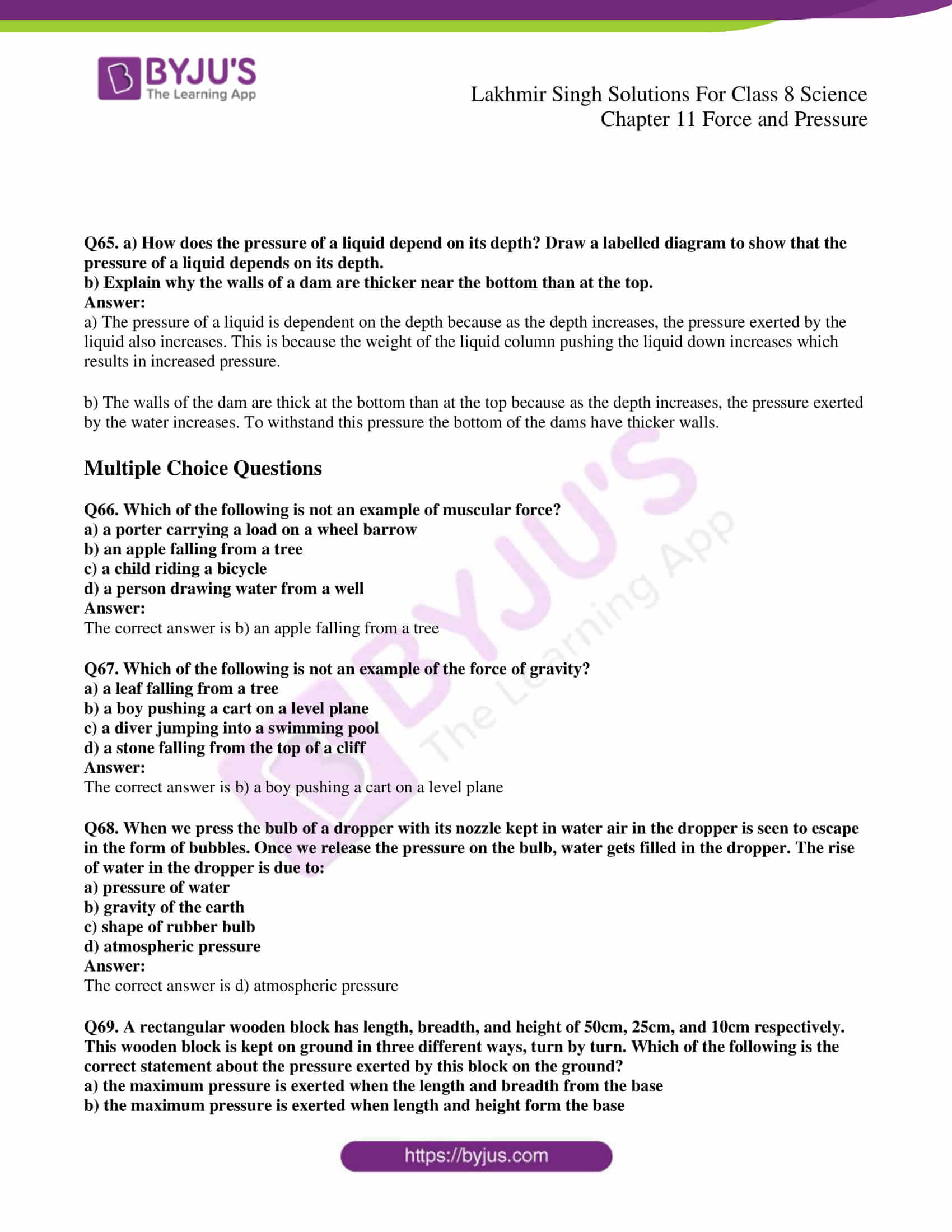 lakhmir singh solutions for class 8 science chapter 11 10