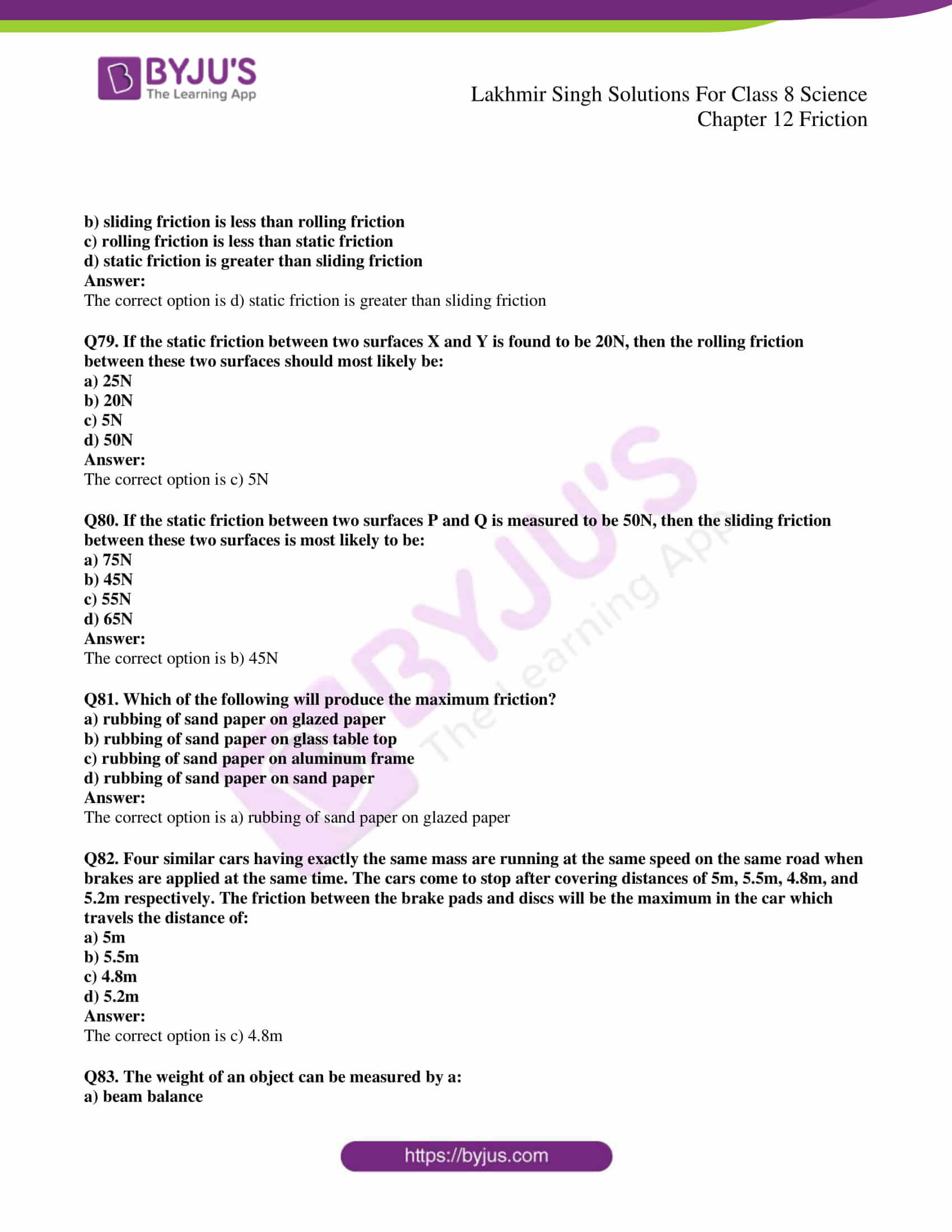 lakhmir singh solutions for class 8 science chapter 12 18