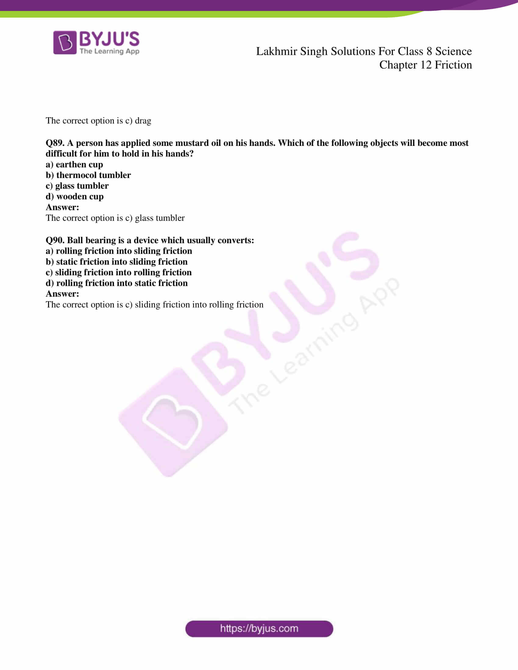 lakhmir singh solutions for class 8 science chapter 12 20