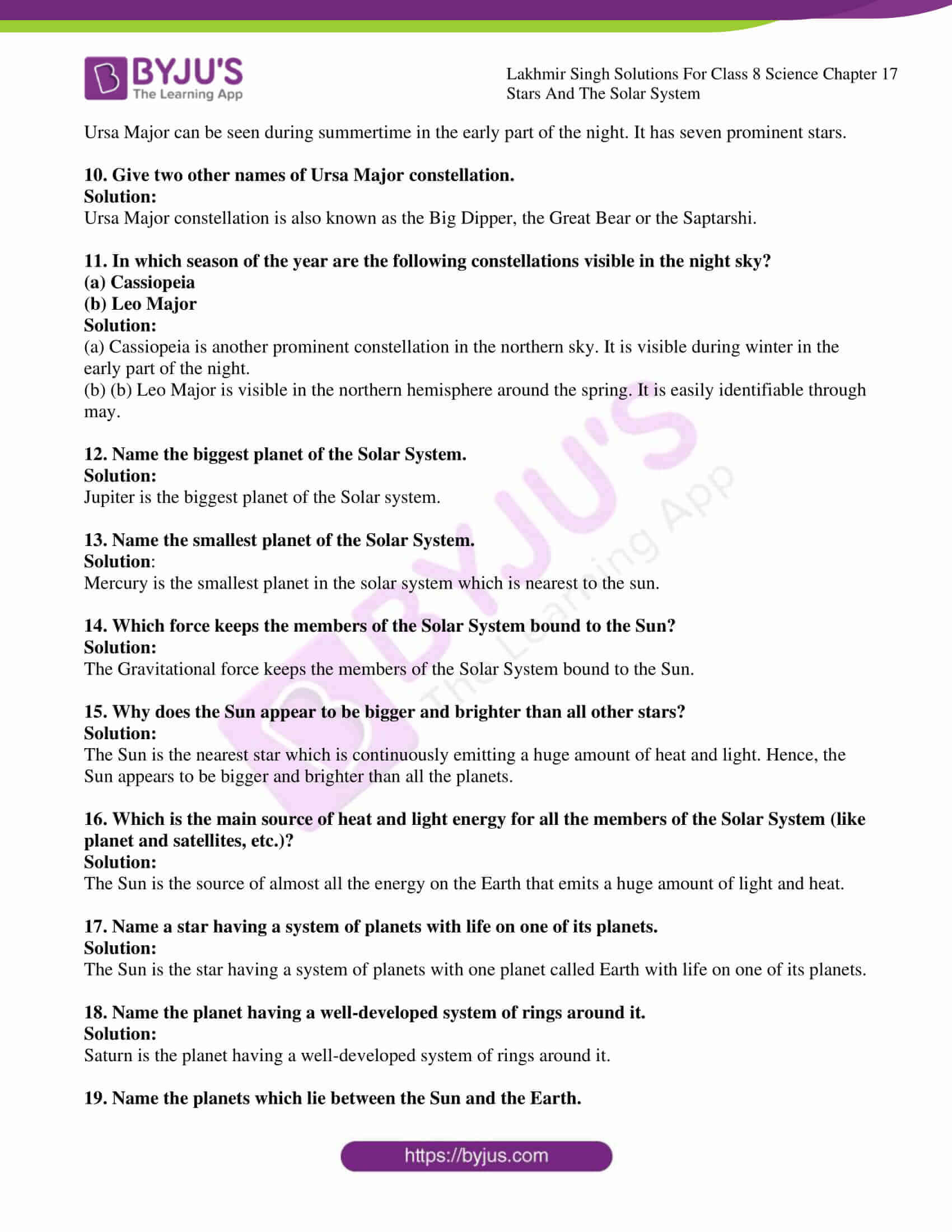 lakhmir singh solutions for class 8 science chapter 17 2