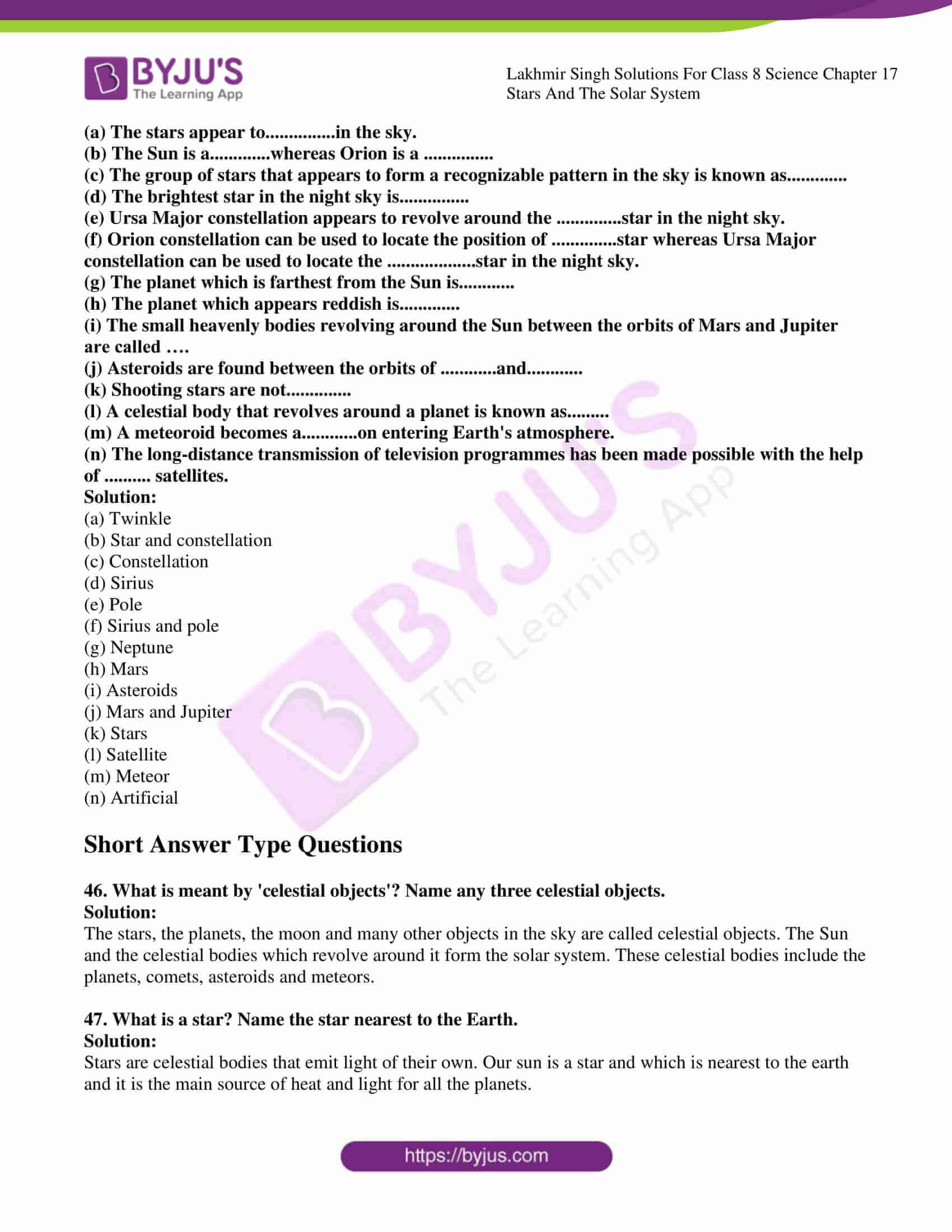 lakhmir singh solutions for class 8 science chapter 17 6
