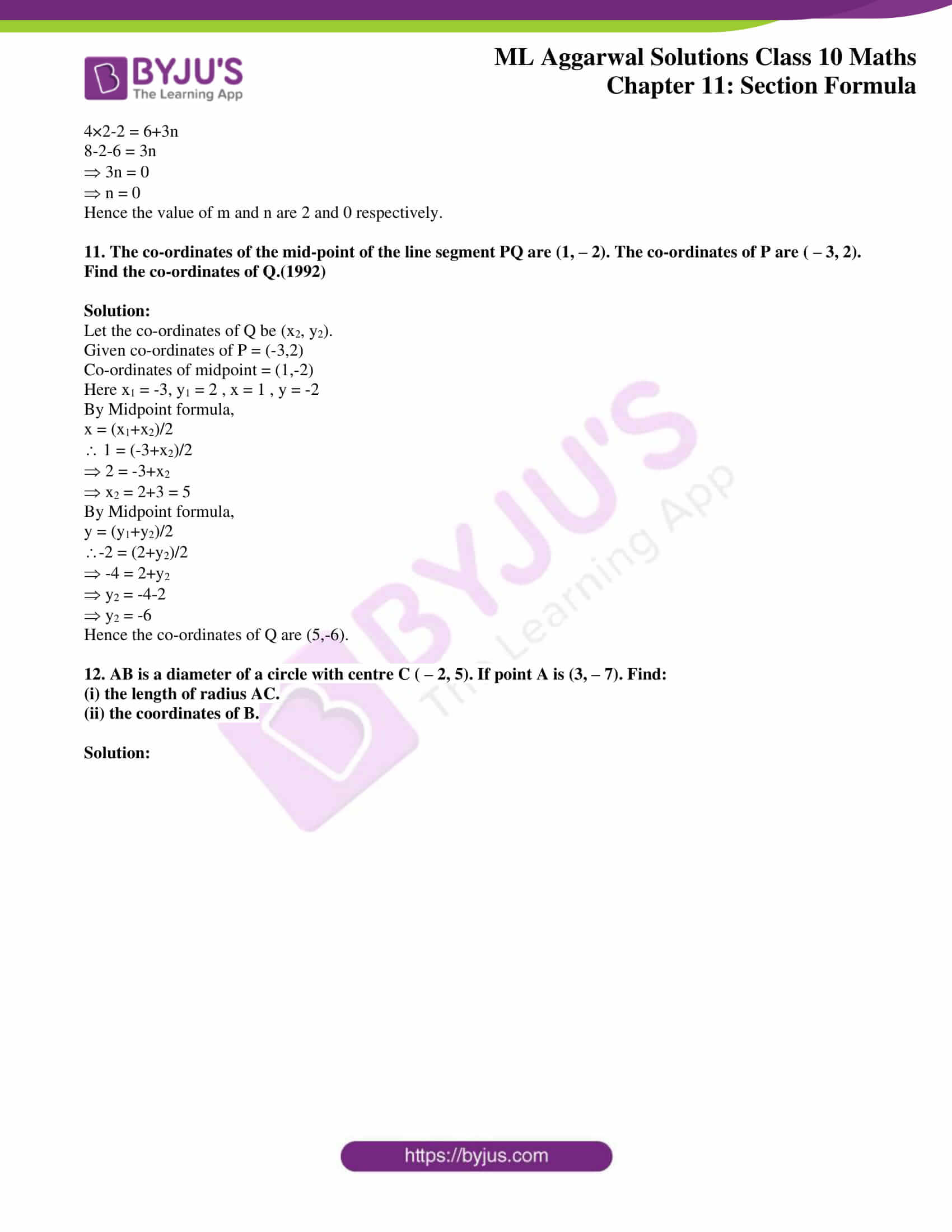ml aggarwal solutions class 10 maths chapter 11 09