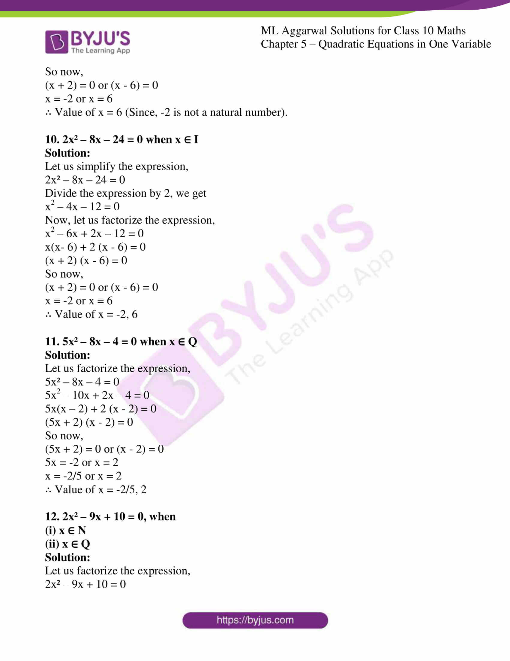 ml aggarwal solutions class 10 maths chapter 5 14