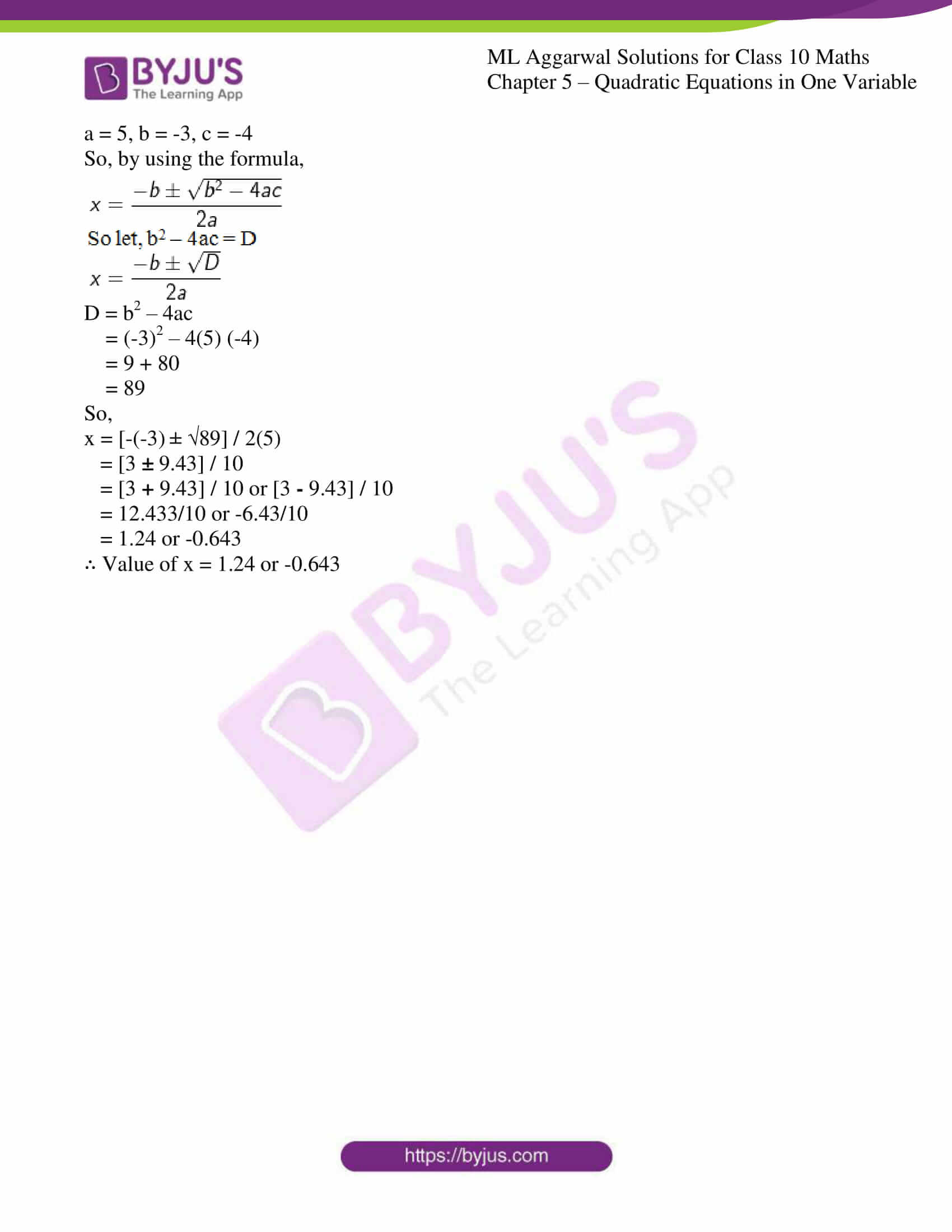 ml aggarwal solutions class 10 maths chapter 5 32