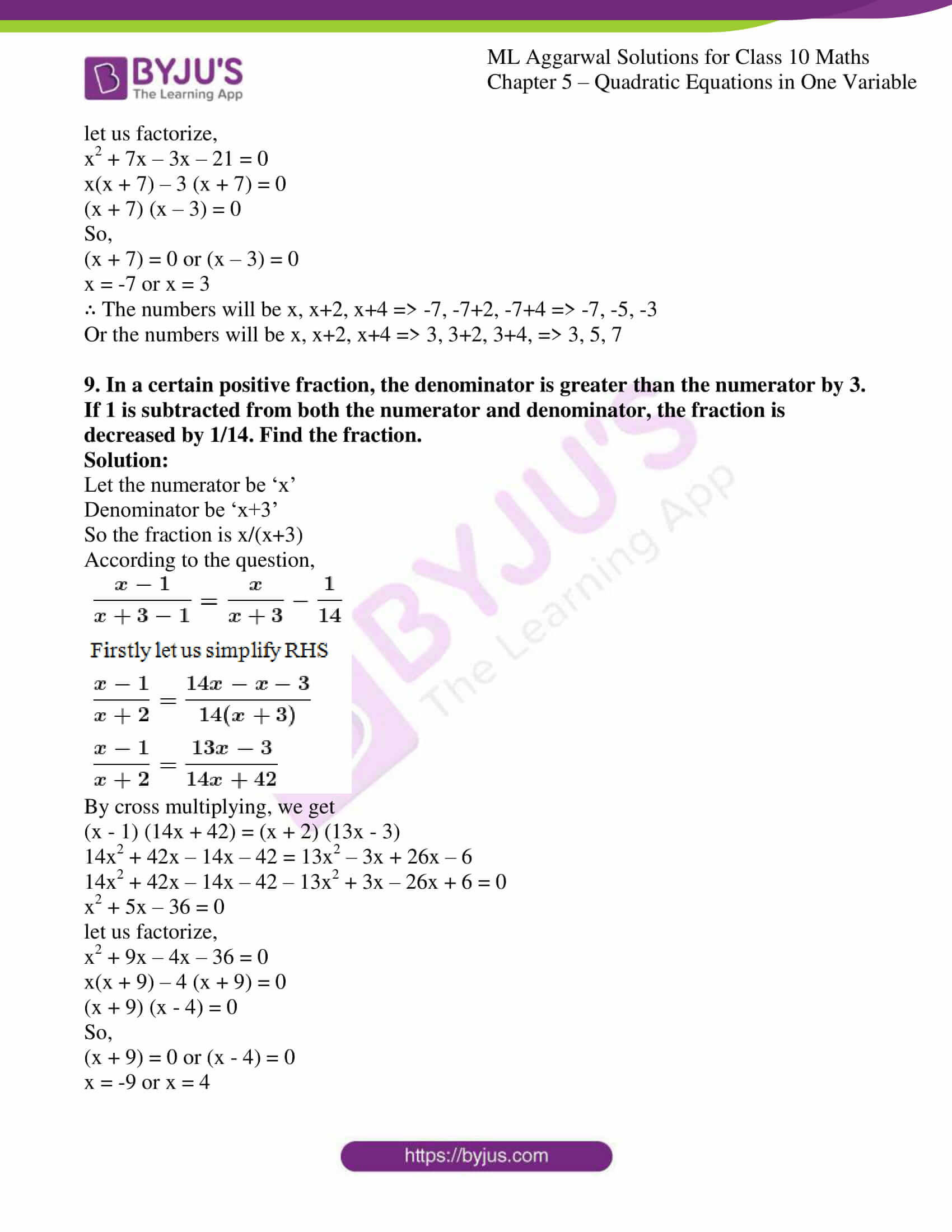 ml aggarwal solutions class 10 maths chapter 5 55