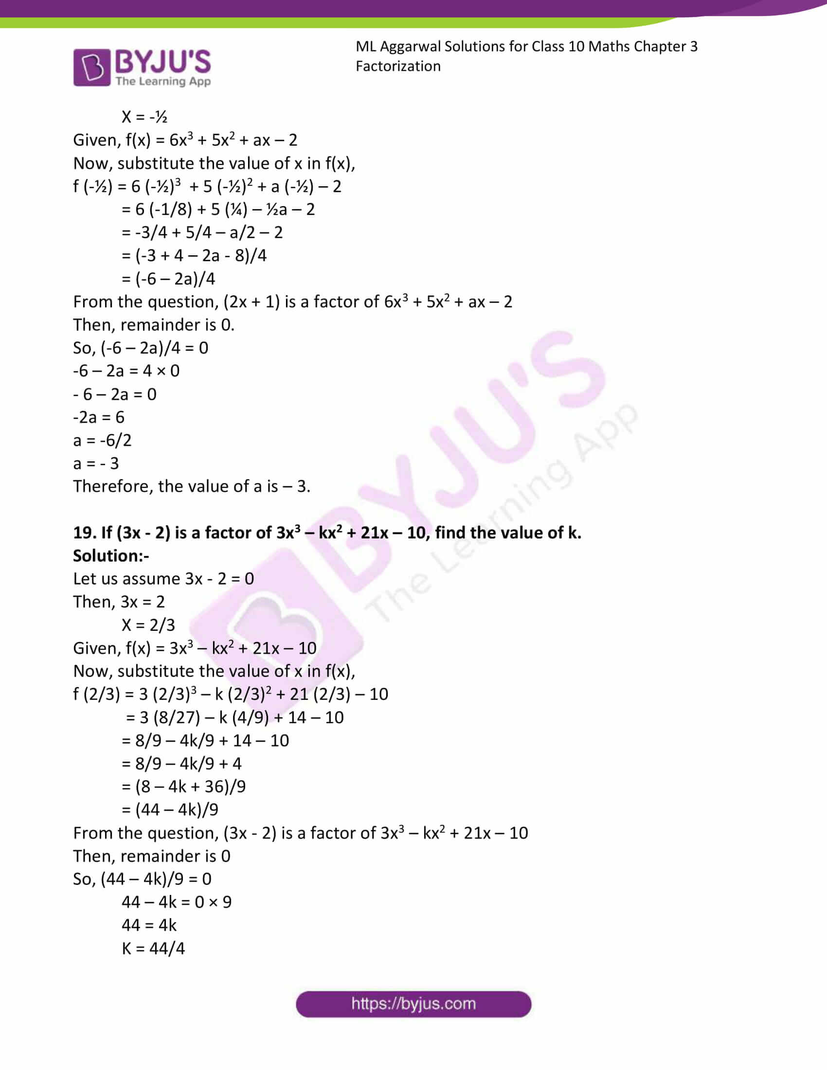 ml aggarwal solutions class 10 maths chapter 6 18