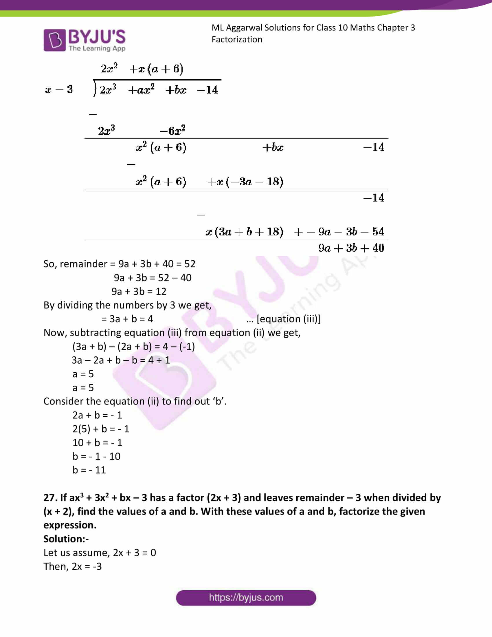 ml aggarwal solutions class 10 maths chapter 6 27