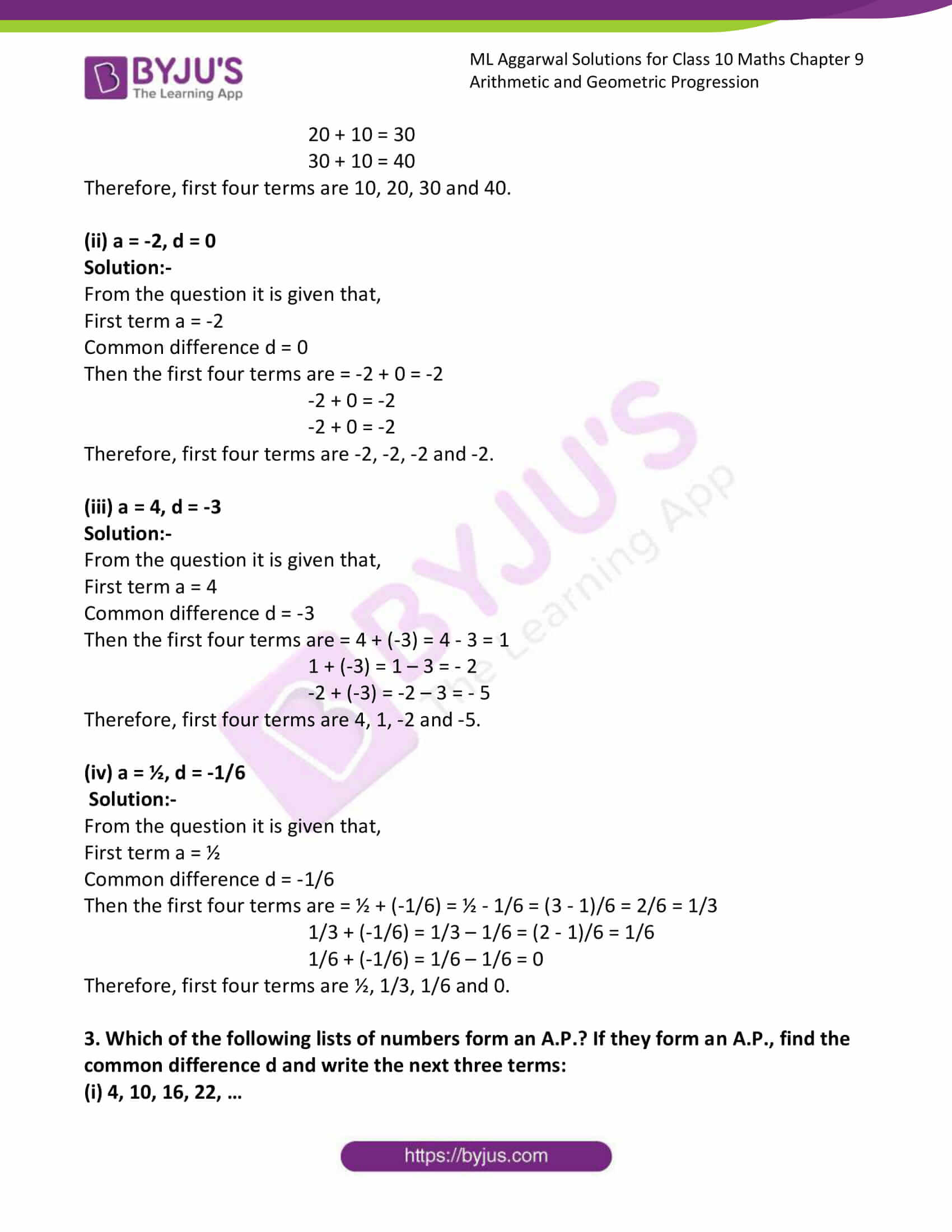 ml aggarwal solutions class 10 maths chapter 9 02