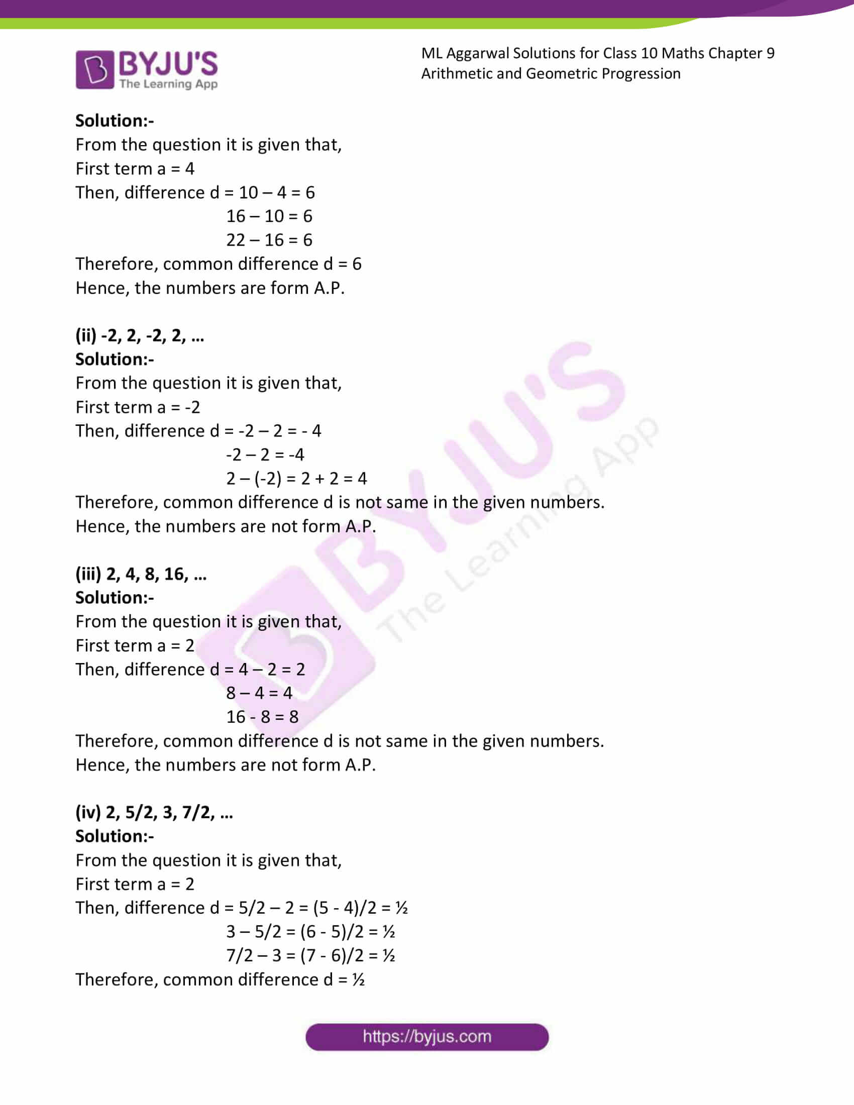ml aggarwal solutions class 10 maths chapter 9 03