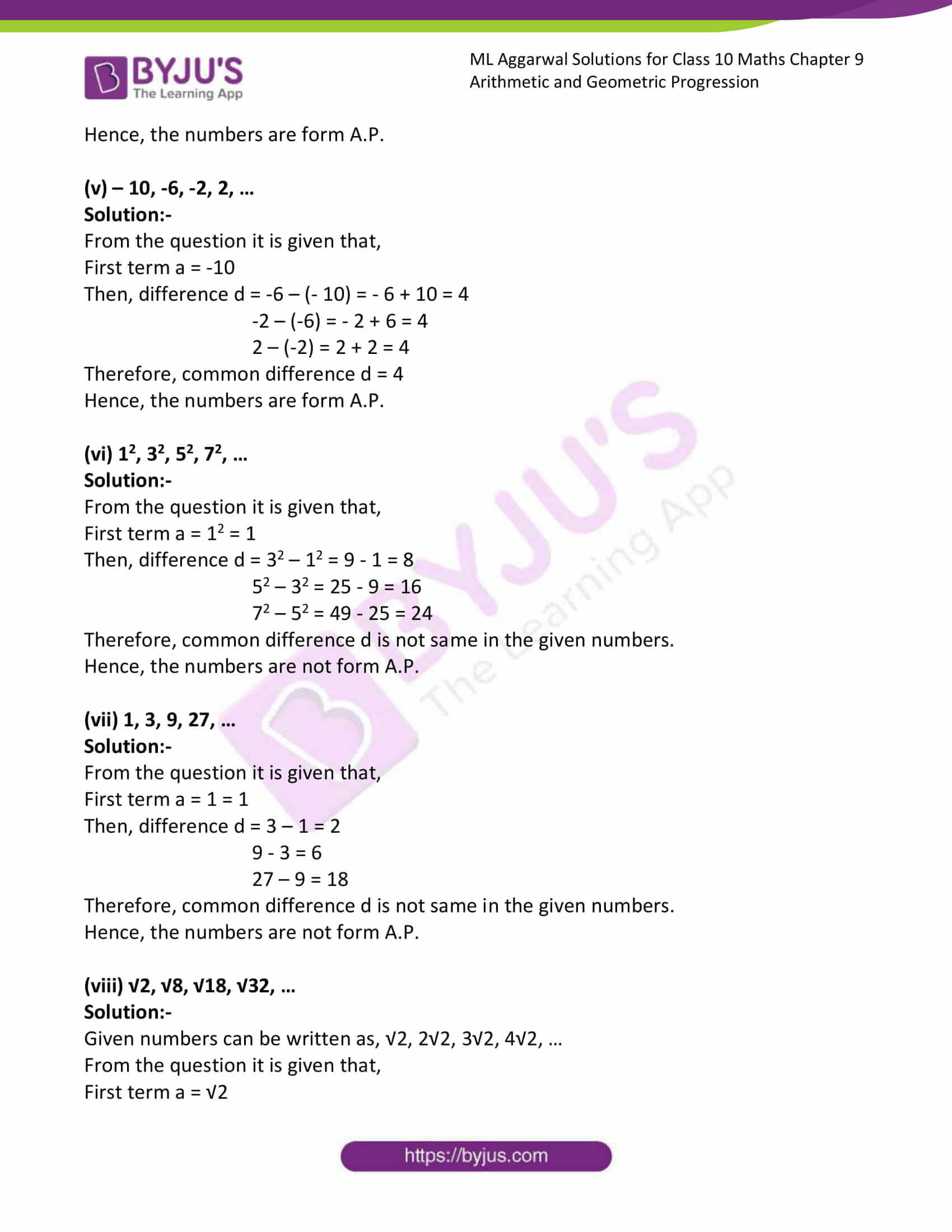 ml aggarwal solutions class 10 maths chapter 9 04
