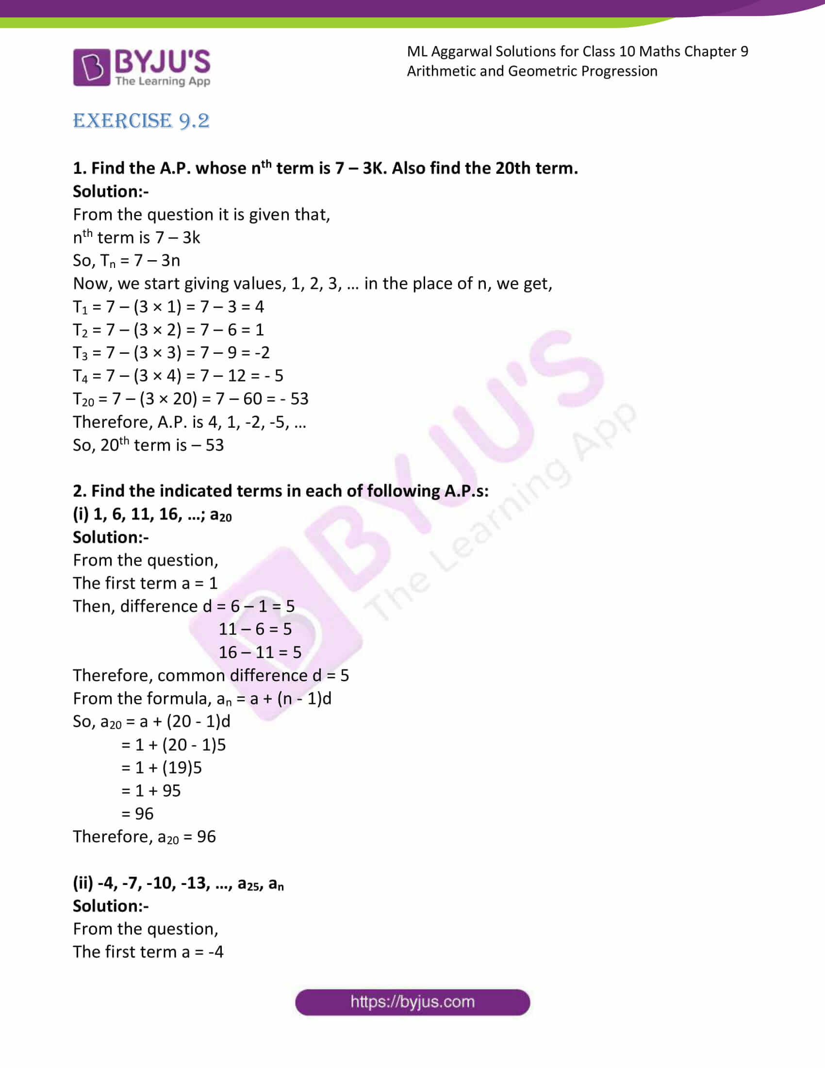 ml aggarwal solutions class 10 maths chapter 9 06