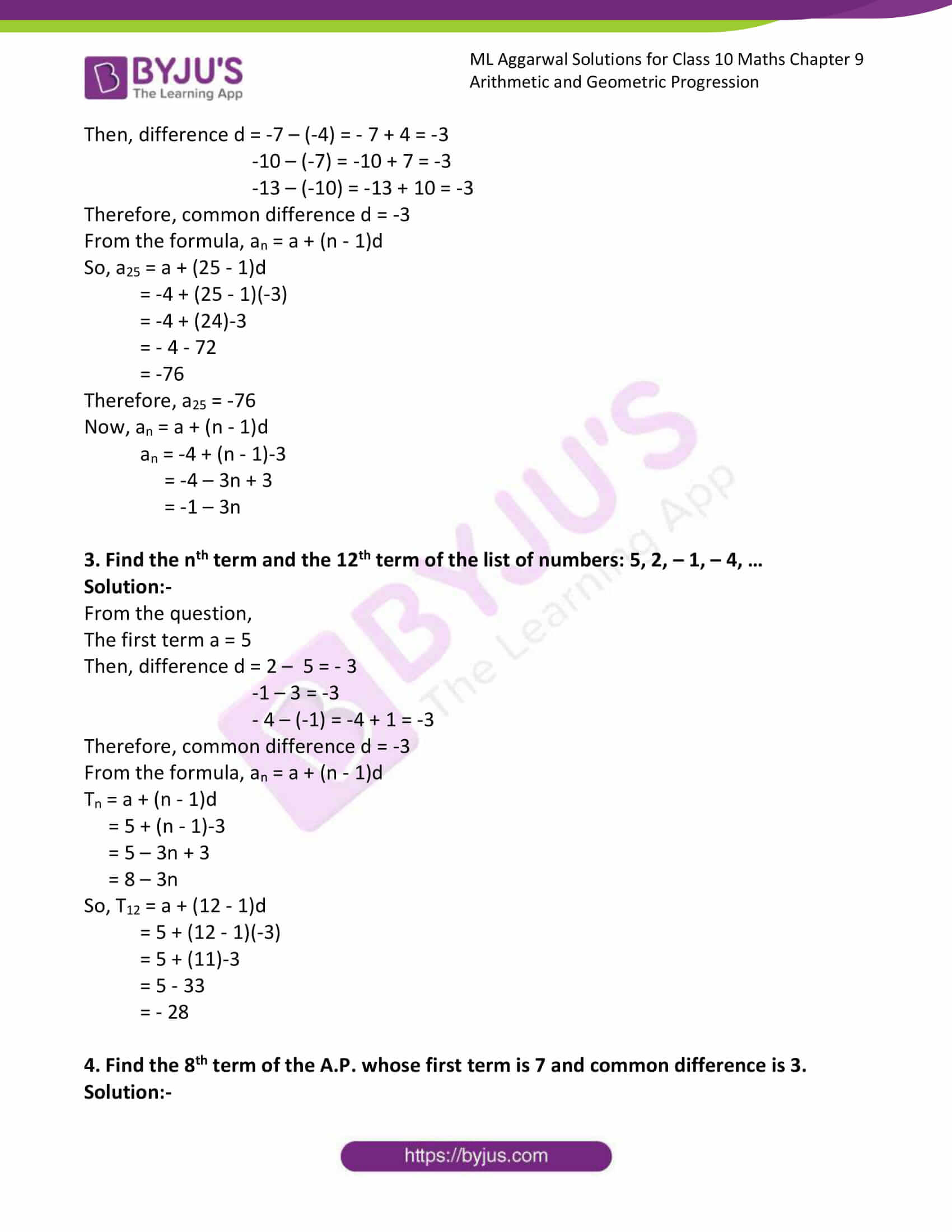ml aggarwal solutions class 10 maths chapter 9 07