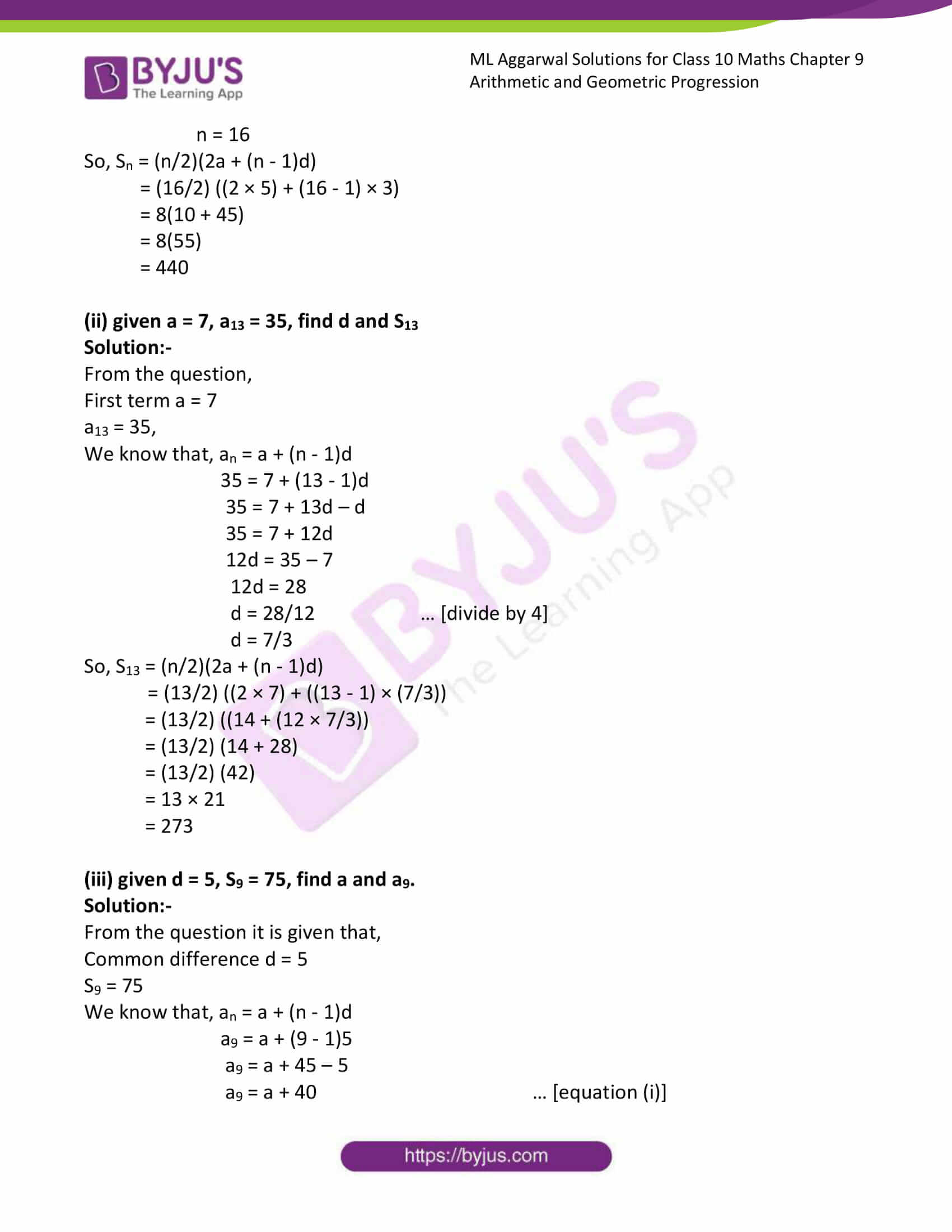 ml aggarwal solutions class 10 maths chapter 9 30
