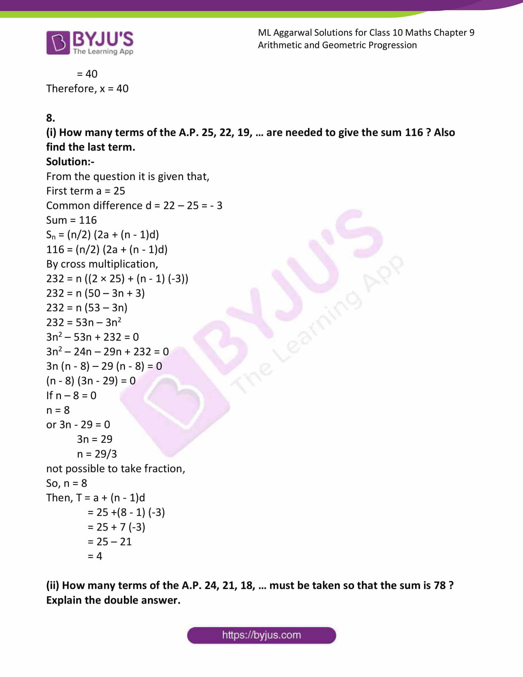 ml aggarwal solutions class 10 maths chapter 9 35