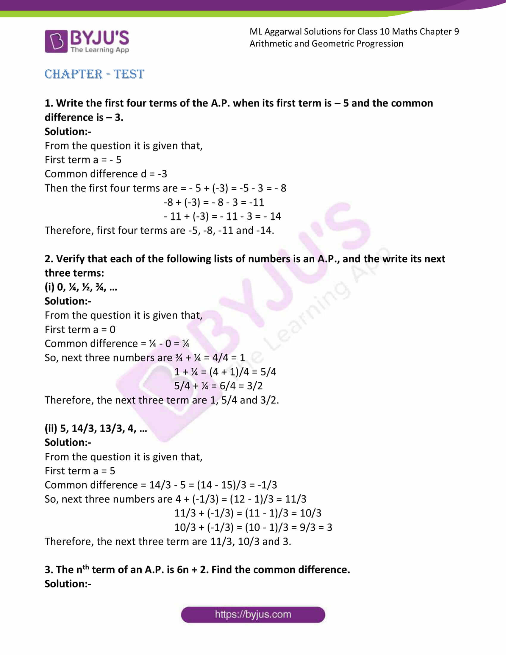 ml aggarwal solutions class 10 maths chapter 9 79