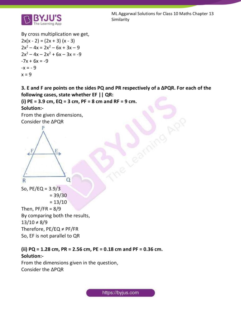 ml aggarwal solutions for class 10 maths chapter 13 similarity 27