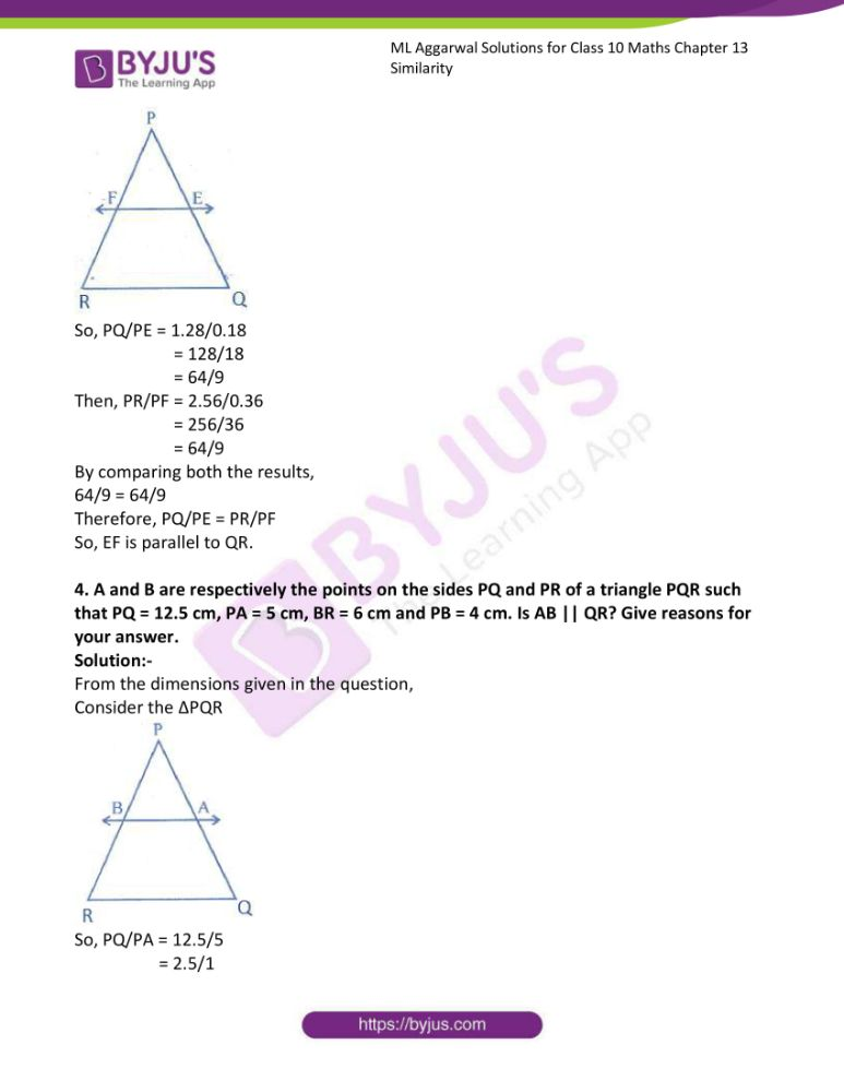 ml aggarwal solutions for class 10 maths chapter 13 similarity 28