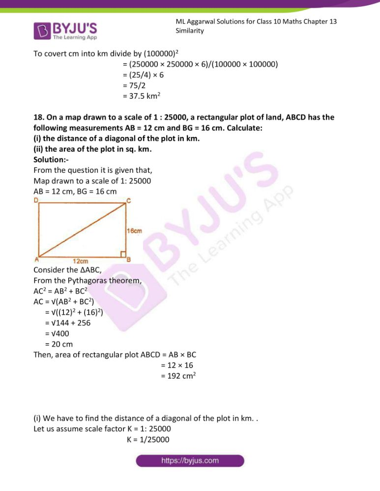 ml aggarwal solutions for class 10 maths chapter 13 similarity 57