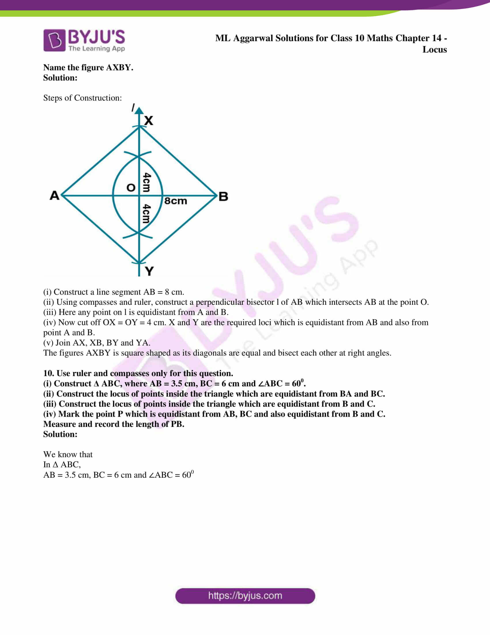 ml aggarwal solutions for class 10 maths chapter 14 10
