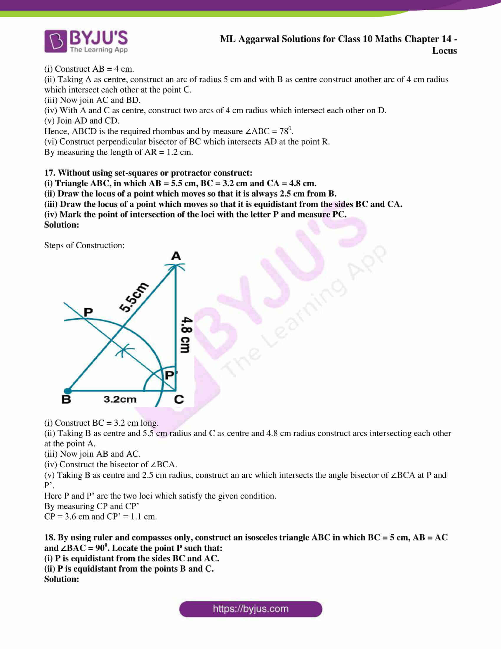 ml aggarwal solutions for class 10 maths chapter 14 15